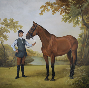 18th Century period style equestrian painting